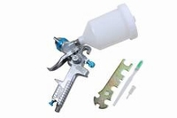 BLUE HVLP GRAVITY SPRAY GUN 600ML CUP 1.4MM NOZZLE