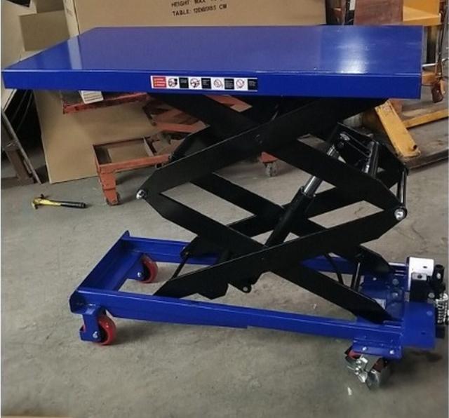 Verrijdbare heftafel 1000 kg 1200 x 610 mm 500-1700 mm hoog