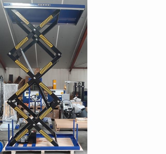 Elektrische schaartafel 200 x 100 cm 1000 kg 60-360 cm 380V