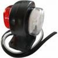 Breedtelamp rood/wit plat LED + CE