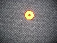 Reflector oranje rond 60 mm