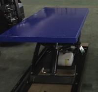 Elektrische schaartafel 130 x 80 cm 2000 kg 19 tot 104 cm