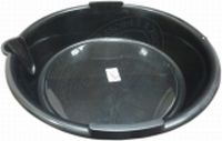 Olieopvangbak zwart 6 liter rond