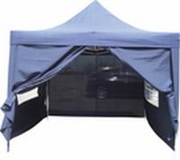 Party tent 6x3 meter Blauw 4 zijkanten Scharnier tent